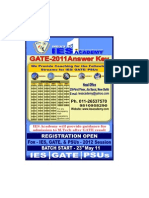 GATE 2011 Solution, Answer Key, Civil Engineering, IES Academy