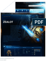Zealot-Unit Description - Game - StarCraft II