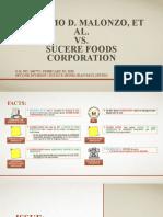 1. ALAG_Malonzo, Et Al. v. Sucere Foods