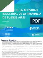 Informe Actividad Industrial Bonaerense Marzo 2021