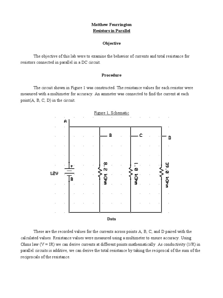 Lab Report 3 How Does Someone Calculate The Total Resistance Of Such A Circuit