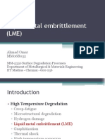 Liquid metal embrittlement (LME)