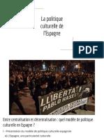 Politiques Culturelles en Espagne