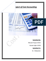 Final Project of Cost Accounting