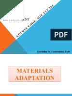 LLMD MODULE 4-MATERIALS ADAPTATION