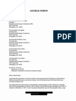 George Soros' Letter to to SEC regarding increased Disclosure by Extractive Industries under Dodd-Frank