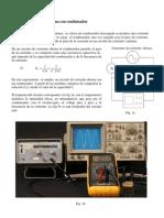 Circuito de corriente alterna con condensador Fundamento
