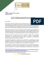 Petición a la Alcaldía de Pereira
