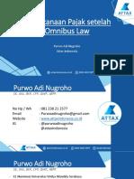 Webinar Perencanaan Pajak Setelah Omnibus Law