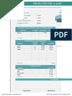 Plantilla Excel Ficha Tecnica Alimentos