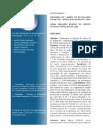 HISTORIA DE CARIES EN ESCOLARES DE GENOY - MUNICIPIO DE PASTO - 2011.