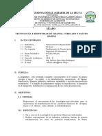 TEC. E IND. DE GRANOS,CEREALES,RAICES