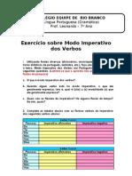 Exercício sobre Modo Imperativo dos Verbos -12-05-2010