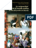 Reciprocidad en El Mundo Andino