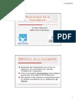 Physiologie de La Nociception (Pr Maurette)