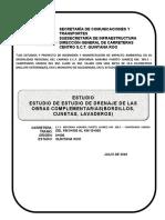 3.- ESTUDIO DE DRENAJE DE LAS OBRAS COMPLEMENTARIAS