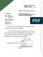 James Peters Criminal Complaint