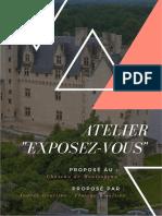 Dossier de projet Atelier au Château de Montsoreau - Audrey Grollier et Florine Waultier