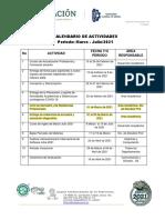Calendario de Activ. Mar-Jul-2021