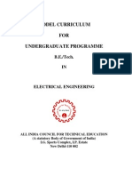 Model curriculum for electrical engineering