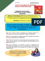 Lenguaje 5°, 22 de junio Comprensión lectora (Trabajo con el texto del estudiante)