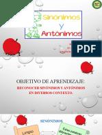Lenaguaje 5°, 15 de junio Sinónimos  y Antónimos
