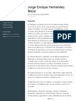 Curriculum Jorge Enrique Hernández Meza SEG