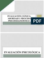Clase 2. Evaluación clínica, abordaje y proceso psicodiagnóstico