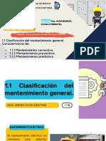 1.1 Clasificación del mantenimiento general. Características de...