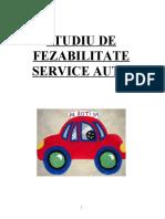 Studiu de Fezabilitate - Service Auto