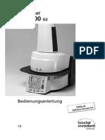 Programat EP3000 GEBRAUCHSANWEISUNG
