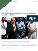 28.02.2021 Galindo Ceballos solicita registro como candidato a la alcaldía capitalina