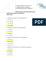 CUESTIONA QUIMICA MATEMATICA 2018-II-1