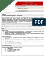Plano de Ensino - Design Universal e Acessibilidade no Design de Interiores