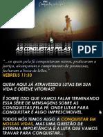 CULTO - SERIE AS CONQUISTAS PELA FÉ 2 - CONQUISTAS PELAS LUTAS