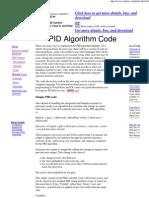 4 -PID Algorithm Code