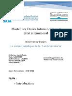 Rapport Lex Mercatoria