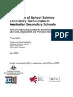 Status of School Science Technicians report
