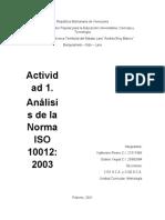Actividad 1. Analisis de La Norma ISO 10012-2003