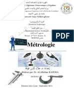 Cours Metrologie PDF