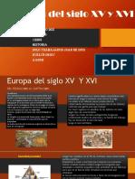 Europa durante los siglos XV Y XIV
