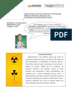 Matemática e Radioatividade -3ª ano