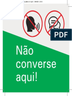 Sinalizacao Nao Converse 15 x 15 (1)