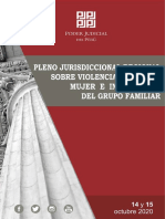 Pleno Jurisdiccional Regional Sobre Violencia Contra La Mujer 2020 - LP