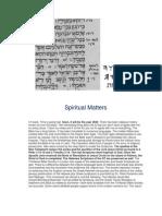 Spiritual Matters