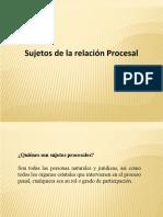 Sujetos de la relacion procesal