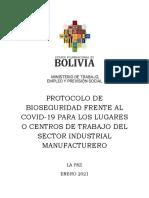 Protocolo Covid Lugares Trabajo Ministerio de Trabajo