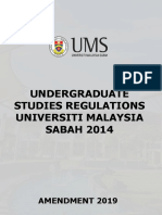 Undergraduate Studies Regulations UMS Amendment 2019 PG 13-15-17