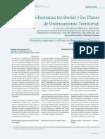 Gobernanza Territorial y Los Planes