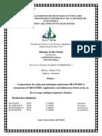 comparaison des règles parasismique algériennes RPA99v2003 et européennes EC8